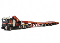 WSI Mammoet Volvo with Palfinger Crane and 4 Axle Broshuis Semi Low Loader